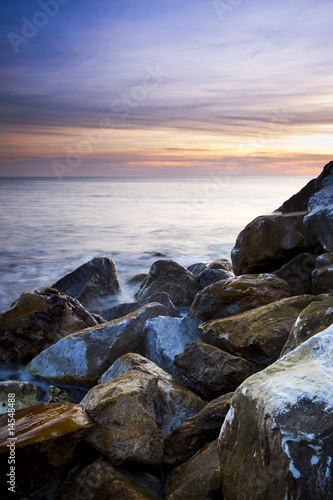 Foto-Leinwand - Sunset at coast