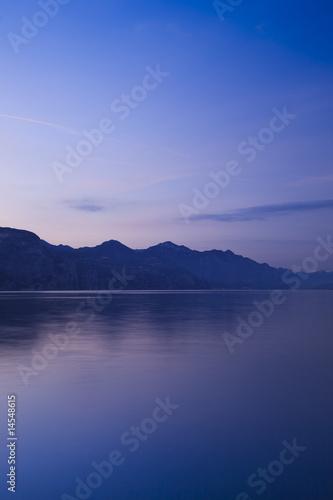 Fotografia Sunset at garda lake