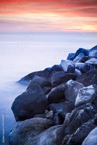Foto-Leinwand - abstract sunset
