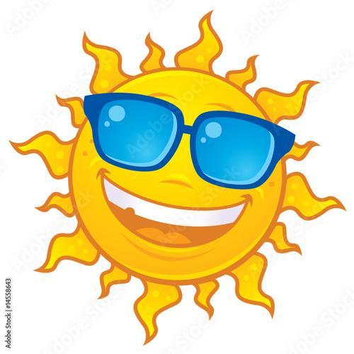 Photo  Sun Wearing Sunglasses