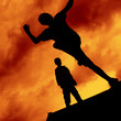 canvas print picture - Freerunning