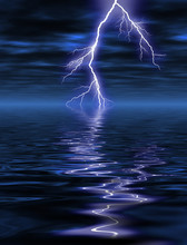 Lightning In The Night Over Th...