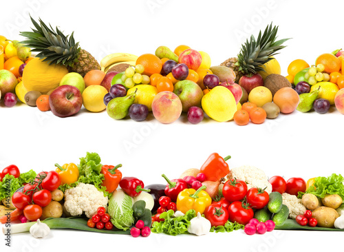 Papiers peints Cuisine Fruit and vegetable textures