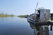 Airboat  On Tranquil Waters