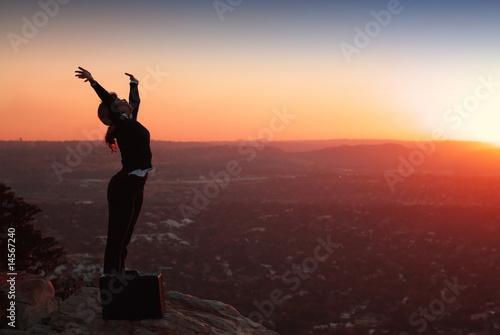 Fotografía  Silhouette of Business Woman