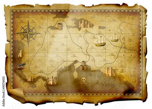 ancient map Wallpaper Mural