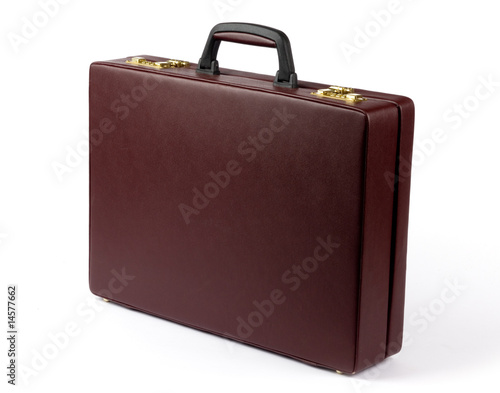 Leather briefcase Canvas Print