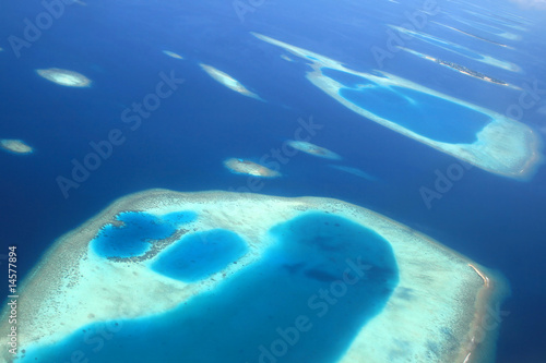 Poster Naufrage Indian ocean, islands of Maldives
