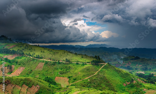 Staande foto Afrika African landscape, rainy season