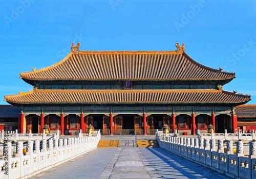 Fond de hotte en verre imprimé Pékin palais impérial