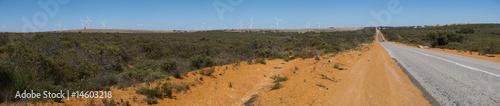 Printed kitchen splashbacks Australia Panorama of an outback road in Western Australia