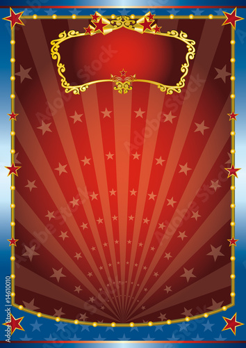 Red and blue show Canvas Print