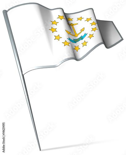 Photo  Flag pin - Rhode Island (USA)