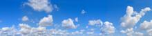 Big Panorama. Landscape Blue Sky