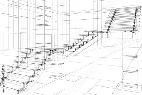 Obraz na płótnie abstract architectural construction