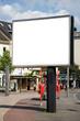 leere Plakatfläche in der Fußgängerzone
