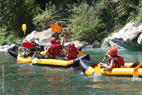 Obraz na plátne Ecole en sortie kayak