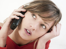 Femme Communication Téléphone Sans-fil