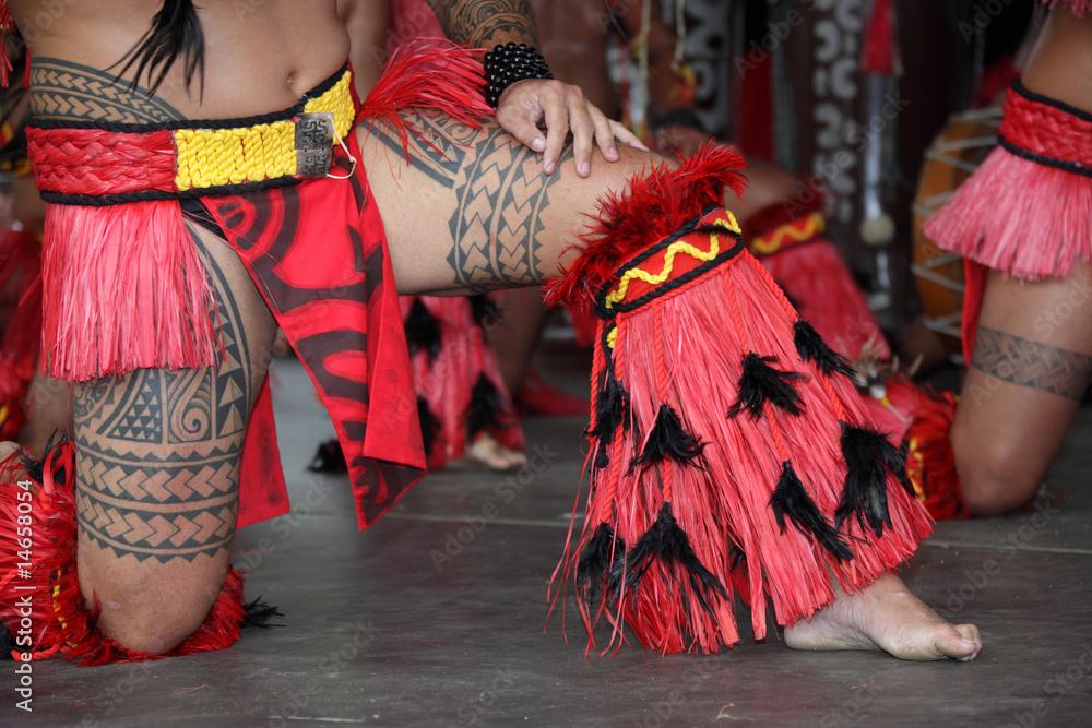 Fototapeta danse tahitienne