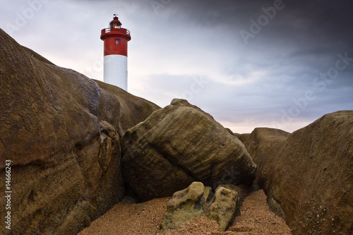 Canvas Print Lighthouse on Rocks