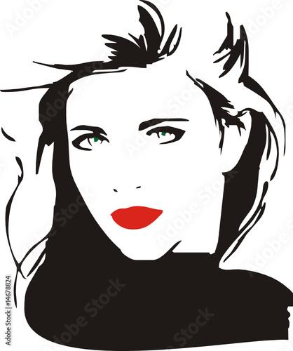 Vector Feminino - Woman Vector - Face