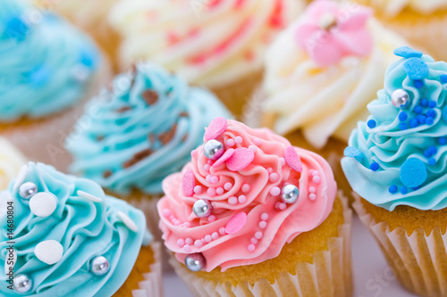 Cupcake assortment Wallpaper Mural