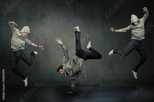 Fotografie, Obraz  Three hip hop dancers, expression
