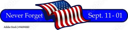 Fotografia  september 11, 2001 with flag