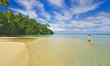 Tropical beach, Huahine, French Polynesia