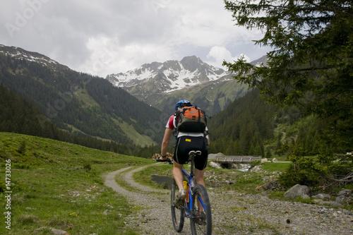 Deurstickers Fietsen Mountainbiking
