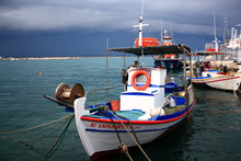 A Fishing Boat Before The Storm.
