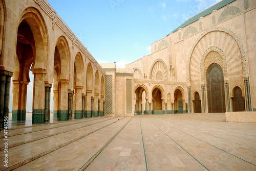 Carta da parati II. Hassan Mosque, Casablanca, Morocco