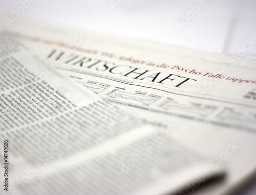 Poster Kranten german newspaper wirtschaft