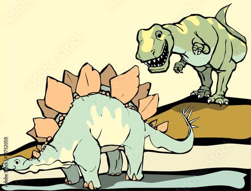 Aufkleber - Hunting the Stegasaurus