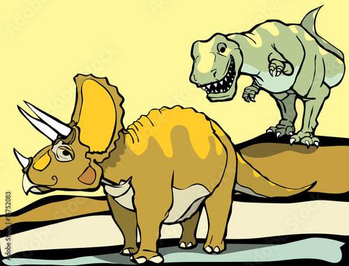 Aufkleber - Hunting the Triceratops
