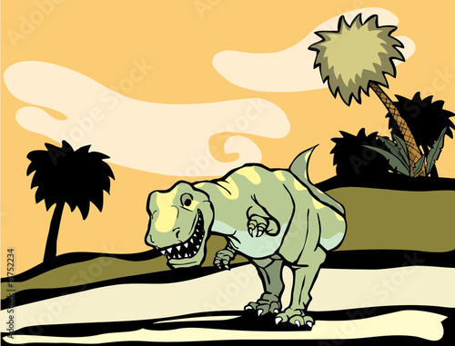 Aufkleber - Tyrannosaurus Rex in nature