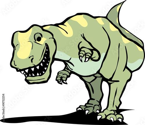 Aufkleber - Happy Tyrannosaurus Rex