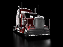 Red Heavy Truck