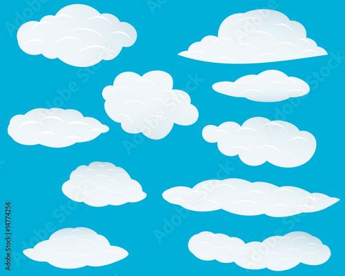 Papiers peints Ciel clouds set