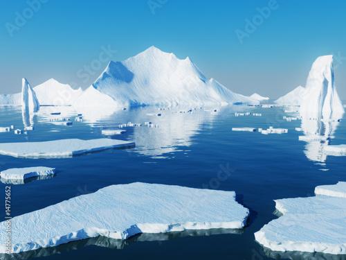 Foto auf Leinwand Pole Icebergs