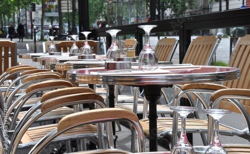 Terrasse De Cafe Parisien 1 Buy This Stock Photo And Explore