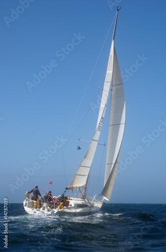 Canvas Prints Ship sailing yacht at sea
