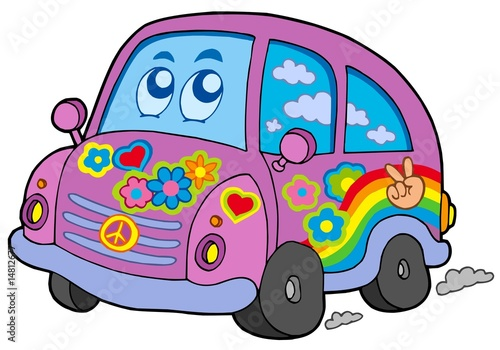 Recess Fitting Cars Hippie car