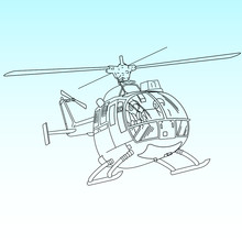 Helicopter White Illustration