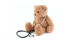 Teddy Bear And Stethoscope.