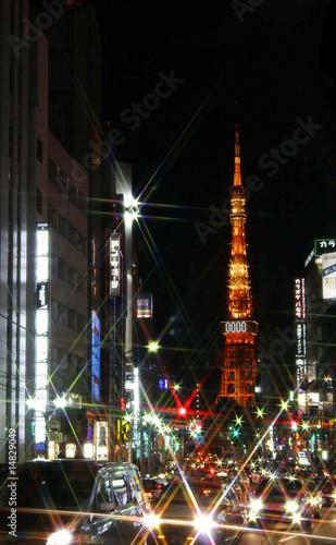 Fototapeta Tokyo Lights obraz na płótnie