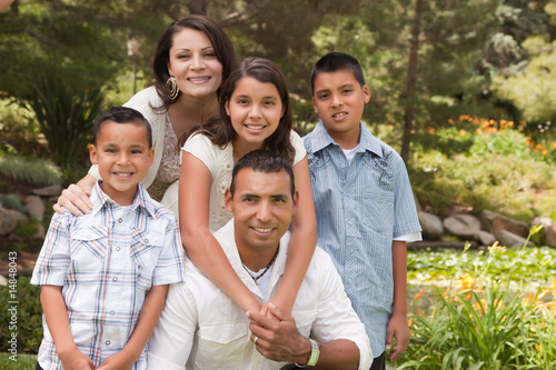 Fotografie, Obraz  Happy Hispanic Family In the Park