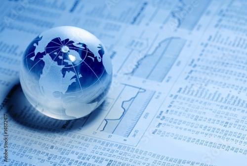 Fotografie, Obraz  Crystal Global on Financial Chart