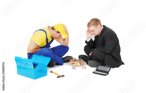 Valokuva  worker and businessman