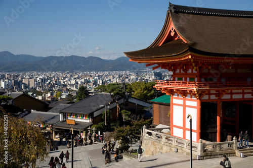Poster Kyoto Tempel Kiyomizu-dera in Kyoto